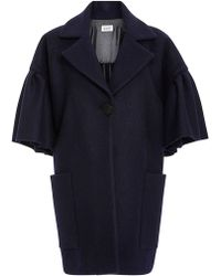 WHIT Lou Cashmere Wool Coat - Blue