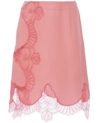 Alexis Mabille - Pink Lace Wrap Mini Skirt - Lyst