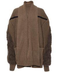 Azede Jean-Pierre - Camel Oversized Cableknit Cardigan - Lyst