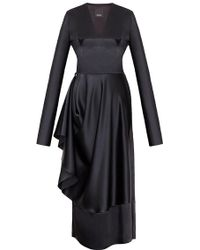 Bevza - Asymmetrical Long Sleeve Dress - Lyst