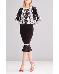 Sachin & Babi - Two-tone Floral Lace Open-front Jacket - Lyst