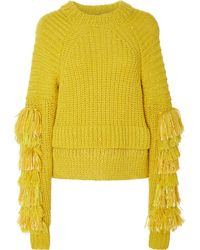 SPENCER VLADIMIR - English Fringe Cashmere-blend Sweater - Lyst