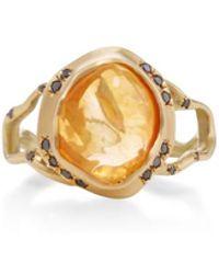 Annette Ferdinandsen - 18k Gold Opal Branch Ring - Lyst