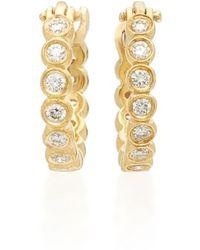 Octavia Elizabeth - Chloe 18k Gold Diamond Hoop Earrings - Lyst