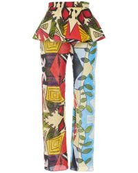 Tata Naka - Frill Straight Leg Trousers - Lyst