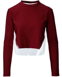 ANOUKI - Cropped Top With Transparent Buttoned Back - Lyst