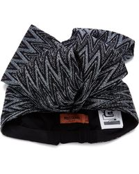 Missoni - Metallic Crochet-knit Headwrap - Lyst