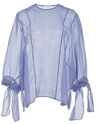 Perret Schaad | Enno Striped Crop Sleeve Blouse | Lyst