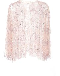 Naeem Khan - Beaded Fringe Chiffon Jacket - Lyst