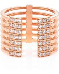 Melissa Kaye - 18k Pink Gold Diamond Ring - Lyst