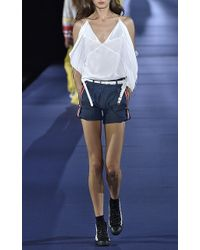 Alexis Mabille - Open Shoulder Handkerchief Top - Lyst