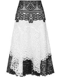 Costarellos - Geometrical Guipure Lace Skirt - Lyst
