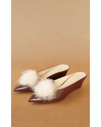 Trademark - Castainge Kidskin Slide With Marabou - Lyst