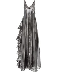 Viva Aviva - All Day Silver Lamé Gown - Lyst