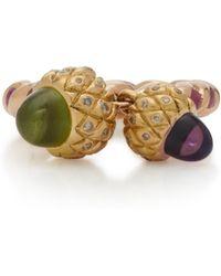 Sylvie Corbelin - 18k Gold, Peridot, Amethyst And Diamond Ring - Lyst