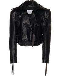 Olivier Theyskens - Leather Biker Jacket - Lyst