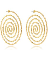 Arme De L'Amour - Swirl Bamboo Earrings - Lyst