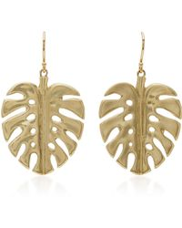 Annette Ferdinandsen - 14kt Gold Leaf Earrings - Lyst