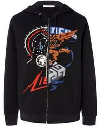 Givenchy - Embroidered Cotton Hoodie - Lyst