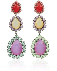 Sharra Pagano - Red And Purple Crystal Earrings - Lyst