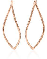 Mattioli - Navettes 18k Rose Gold Diamond Earrings - Lyst