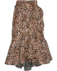 Johanna Ortiz - Cynical Attitude Printed Wrap Skirt - Lyst