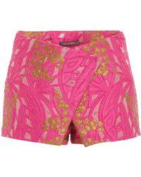 Zac Posen - Lily Jacquard Mini Shorts - Lyst