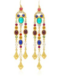 Ben-Amun | Gold-plated Crystal Drop Earrings | Lyst