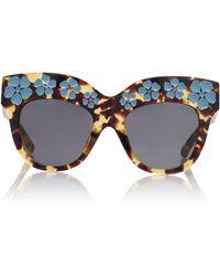 Erdem - Tshell Blue Sunglasses - Lyst