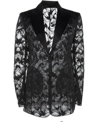 Akris - Sheer Embordered Voile Jacket - Lyst