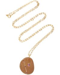 CVC Stones - Ma Biche 18k Gold, Stone And Ruby Necklace - Lyst