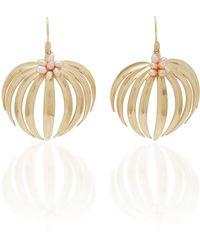 Annette Ferdinandsen - Palm 14k Gold Pearl Earrings - Lyst