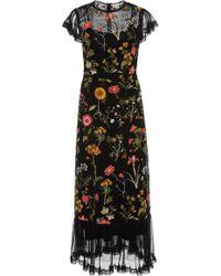 RED Valentino - Macrame Floral Short Sleeve Midi Dress - Lyst
