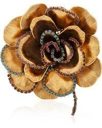 Erickson Beamon Crystal Flower Brooch