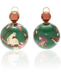 Silvia Furmanovich - Marquetry Green Bird Ball Earrings - Lyst