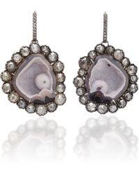 Kimberly Mcdonald - Pink Geode With Black Diamond Earrings - Lyst