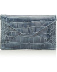 Stalvey - Adysen Alligator Envelope Clutch - Lyst