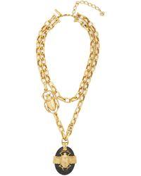 Oscar de la Renta - Scarab Necklace - Lyst