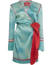 For Restless Sleepers - Aisa Pyjama Wrap Dress - Lyst