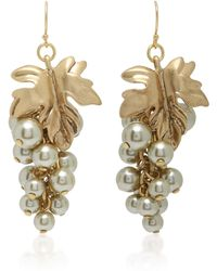 Lulu Frost - Matira Cluster Pearl And Gold-plated Brass Earrings - Lyst