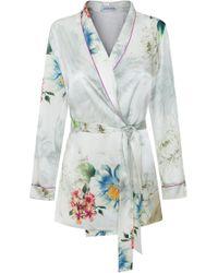 Adriana Iglesias - Waldorf Floral Silk Satin Pajama Top - Lyst