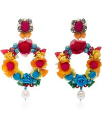 Ranjana Khan - Embellished Drop Pearl Earrings - Lyst