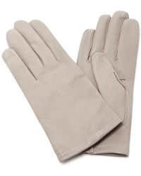 Maison Fabre - Grey Floods Leather Gloves - Lyst