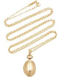 Monica Rich Kosann - 18k Gold Petite Pinstripe Locket - Lyst
