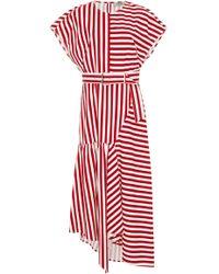 Rachel Comey - Steady Belted Asymmetric Cotton Dress - Lyst