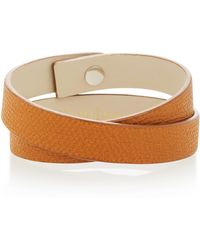 Valextra | Double Wrap Leather Bracelet | Lyst