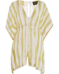 A Peace Treaty - Jacara Striped Romper - Lyst