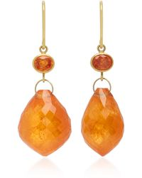 Mallary Marks - Apple & Eve 18k Gold, Sapphire And Briolette Earrings - Lyst