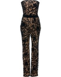 Moschino - Embroidered Tulle Jumpsuit - Lyst