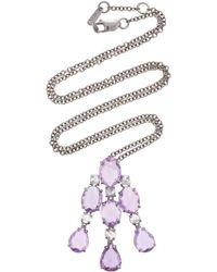 Bayco Purple Sapphire & Diamond Necklace
